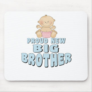 Proud New Big Brother Girl Mouse Pad