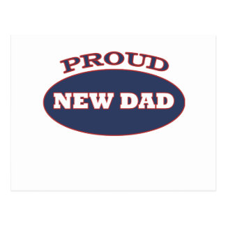 proud new dad postcard