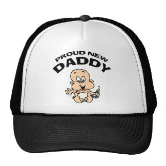 Proud New Daddy Mesh Hats