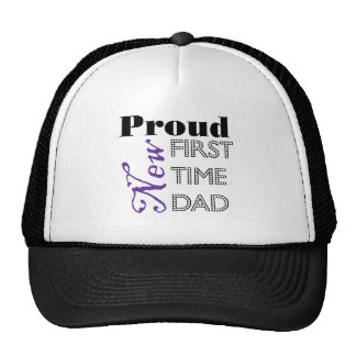 Proud New First Time Dad Cap