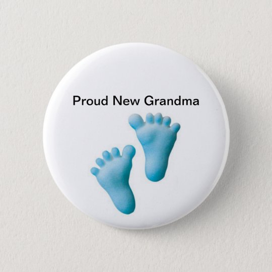 Proud New Grandma 6 Cm Round Badge