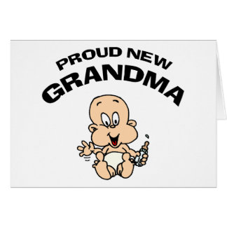 Proud New Grandma Greeting Card