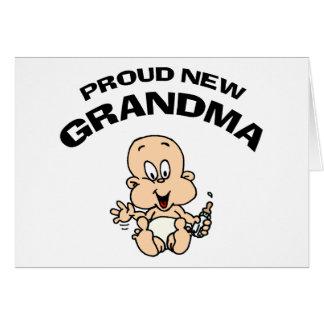 Proud New Grandma Greeting Card