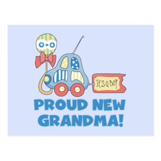 Proud New Grandma-It's a Boy Tshirts and Gifts Postcard
