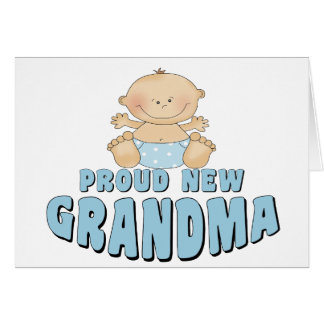 PROUD NEW Grandma T-Shirt Greeting Card