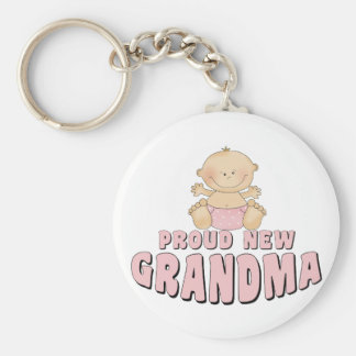 PROUD NEW Grandma T-Shirt Key Ring
