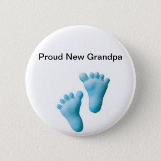 Proud New Grandpa 6 Cm Round Badge