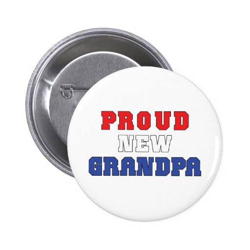 Proud New Grandpa Gift Pins