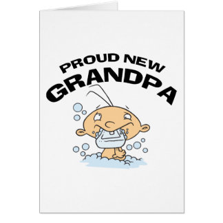 Proud New Grandpa Gift Greeting Cards