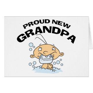 Proud New Grandpa Gift Greeting Card