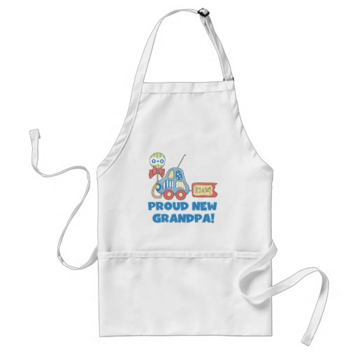 Proud New Grandpa It's a Boy TShirts and Gifts Aprons