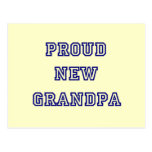 Proud New Grandpa-University Text Tshirts Post Cards