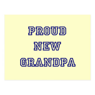 Proud New Grandpa-University Text Tshirts Postcard