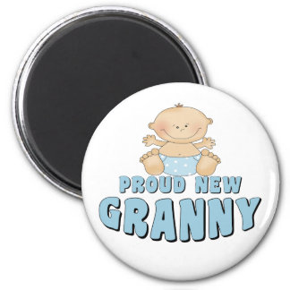 PROUD NEW Granny T-Shirt 6 Cm Round Magnet
