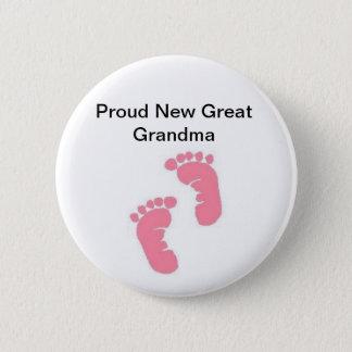 Proud New Great Grandma 6 Cm Round Badge