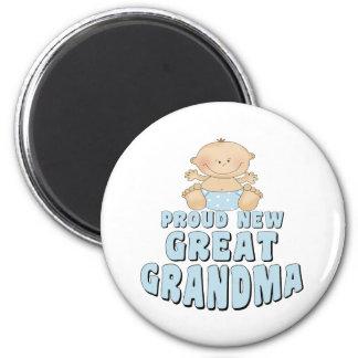 PROUD NEW Great Grandma T-Shirt 6 Cm Round Magnet