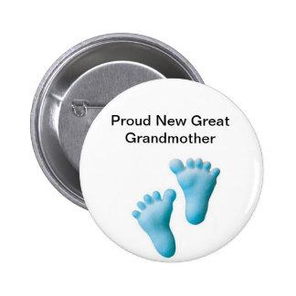 Proud New Great Grandmother 6 Cm Round Badge