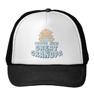 PROUD NEW Great Grandpa Boy Cap