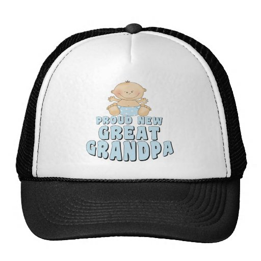 PROUD NEW Great Grandpa Boy Hat