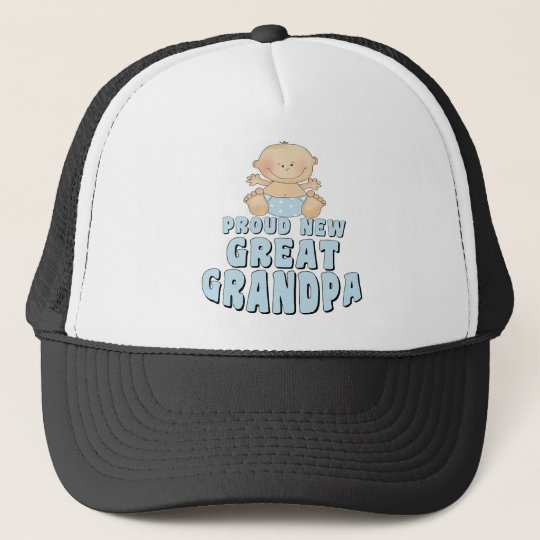 PROUD NEW Great Grandpa Boy Trucker Hat