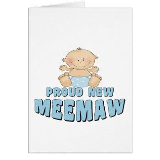 PROUD NEW MeeMaw T-Shirt Greeting Card