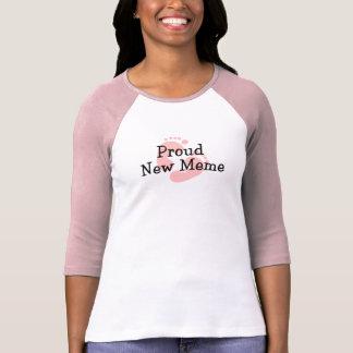 Proud New Meme Baby Girl Footprints T-Shirt