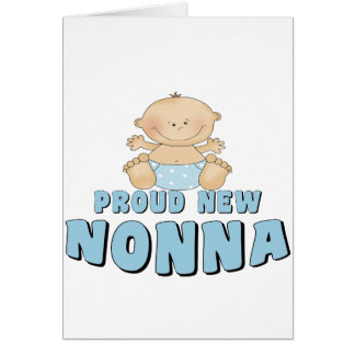 PROUD NEW Nonna T-Shirt Greeting Cards