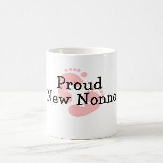 Proud New Nonno Baby Girl Footprints Mug