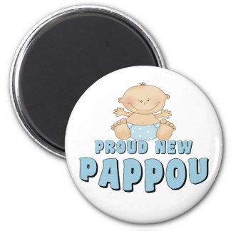 PROUD NEW Pappou Boy 6 Cm Round Magnet