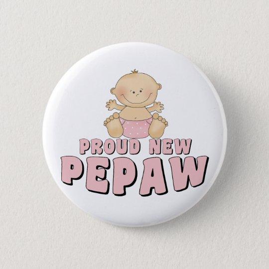PROUD NEW Pepaw Boy 6 Cm Round Badge