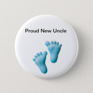 Proud New Uncle 6 Cm Round Badge