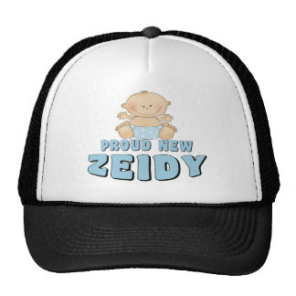 PROUD NEW Zeidy Boy Trucker Hat