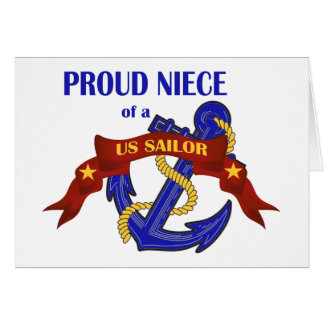 Proud Niece of a US Sailor Greeting Card