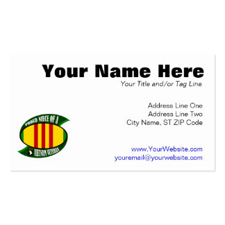 Proud Niece - Vietnam Vet Double-Sided Standard Business Cards (Pack Of 100)