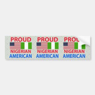 Proud Nigerian American Bumper Sticker