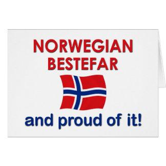 Proud Norwegian Bestefar (grandfather) Greeting Card