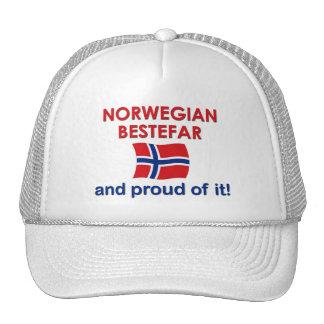 Proud Norwegian Bestefar (grandfather) Trucker Hat