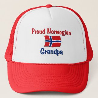 Proud Norwegian Grandpa Trucker Hat