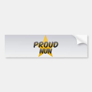 Proud Nun Bumper Sticker
