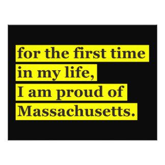 Proud of Massachusetts Flyer Design