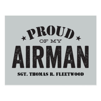 Proud of My Airman Postcard