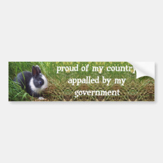 proud of my country, appalled by my government bumper sticker