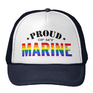 Proud of My Gay Marine Rainbow Flag Cap