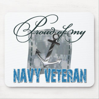 Proud of My Navy Veteran Mouse Pads