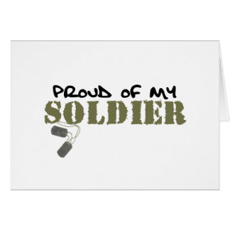 Proud of My Soldier Greeting Cards