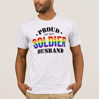 Proud of My Soldier Husband Military Gay Pride T-Shirt