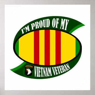 Proud of My Vietnam Vet Poster