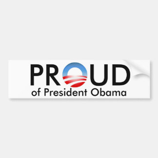 Proud of Obama Bumper Sticker