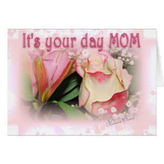 Proud of you Mom Greeting Card