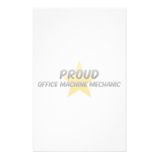 Proud Office Machine Mechanic Customized Stationery